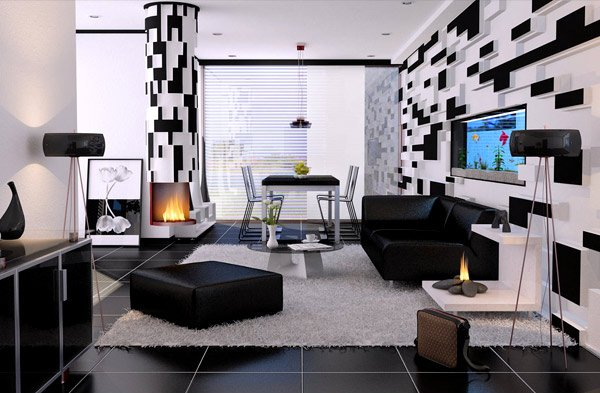modern black living room lazy boy ideas 20 contemporary and white rooms home design lover