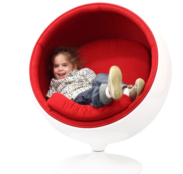red swivel desk chair oversized circle 12 fun and creative children's designs | home design lover