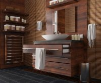 20 Beautifully Done Wooden Bathroom Designs   Home Design ...