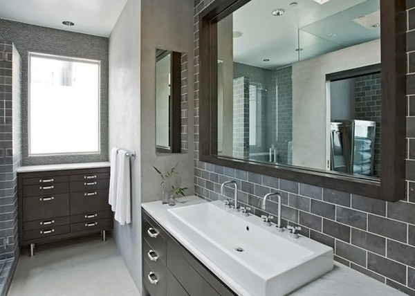 A Look At 15 Sophisticated Gray Bathroom Designs  Home