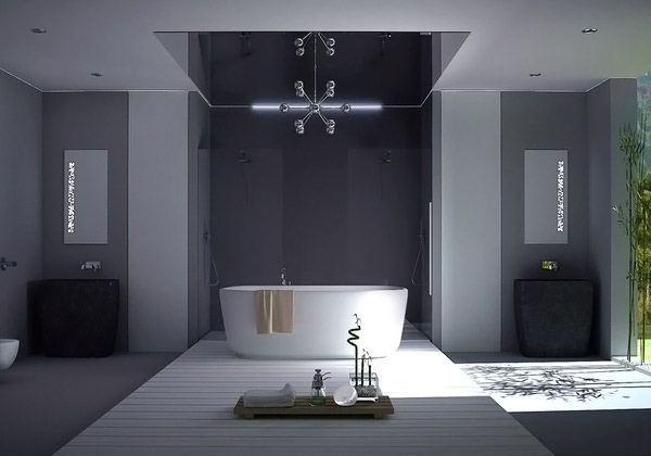 Modern Gray Bathroom A Look At 15 Sophisticated Gray Bathroom Designs | Home