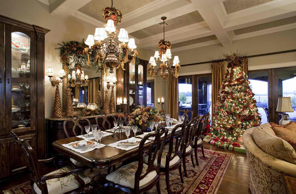 how to decorate a living room with fireplace texture paint designs for india 15 christmas decorated rooms | home design lover