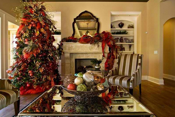 Old Rooms Decorate Christmas