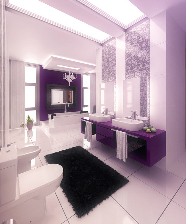 15 Majestically Pleasing Purple and Lavender Bathroom Designs  Home Design Lover