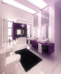 15 Majestically Pleasing Purple and Lavender Bathroom ...