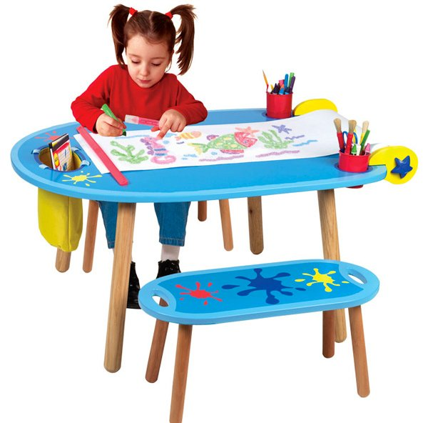 kids table and chair set kmart dining room cover 15 art tables desks for little picassos | home design lover