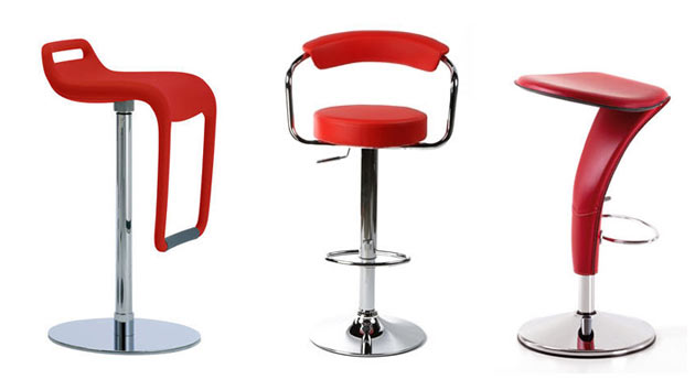 15 Red Modern Bar Stool Designs