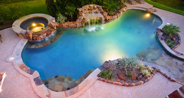 fabulous swimming pool with spa designs