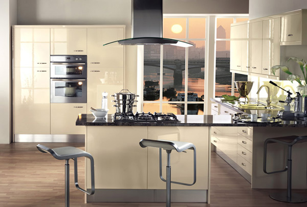 cream color kitchen cabinets discount lighting 15 earth-toned high gloss designs | home design lover