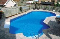 15 Lazy L Swimming Pool Designs | Home Design Lover