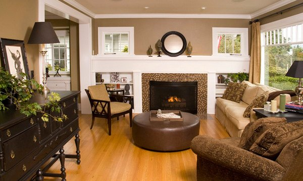 paint colors living room brown leather furniture 3 piece setup 20 stunning earth toned designs | home design ...