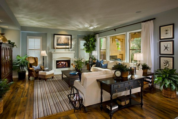 15 Interesting Traditional Living Room Designs