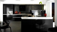 15 Black and Gray High Gloss Kitchen Designs | Home Design ...