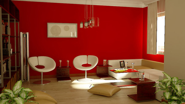 15 Red Themed Living Room Designs  Home Design Lover