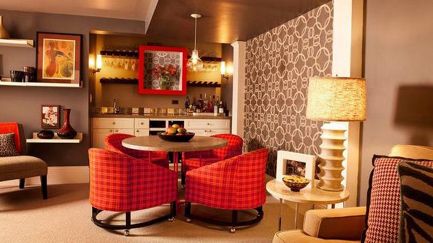 retro living room decor ideas for with black sofa 15 kitschy dining designs home design lover