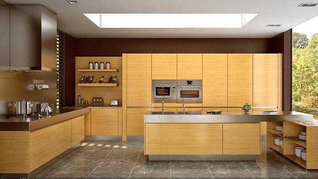 living room decorations with brown furniture best interior designs 17 wooden matte finished kitchen | home design lover