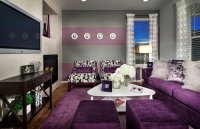 15 Catchy Living Room Designs with Purple Accent | Home ...