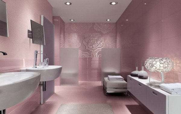 15 Lovely Bathrooms with Decorative Wall Tiles  Home Design Lover