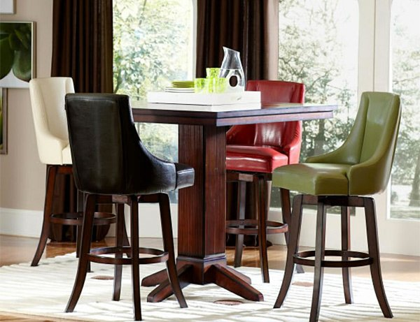 red counter height dining chairs chair cover rentals mobile al a burst of colors from 20 sets with multi-colored | home design lover