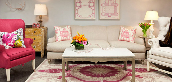 chairs for baby room inexpensive chair covers 15 pretty in pink living designs | home design lover