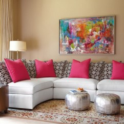 Pink Sofa Furniture Contemporary Sectional 15 Pretty In Living Room Designs | Home Design Lover
