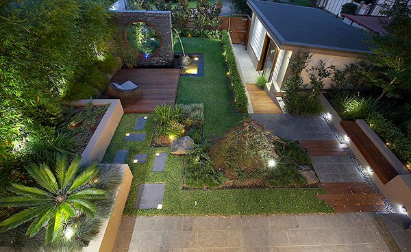 modern and contemporary courtyard