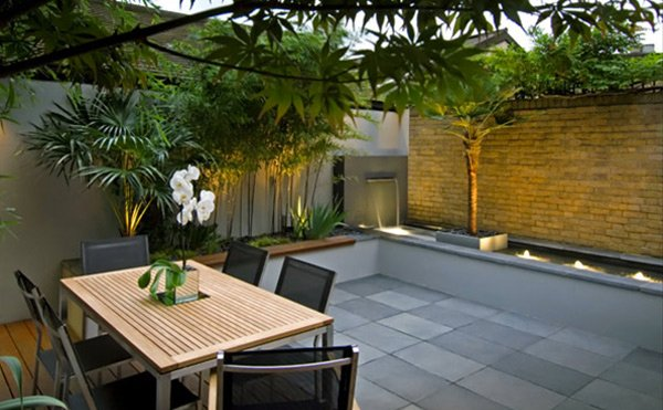 bamboo dining chairs sydney steelcase amia chair adjustments 15 modern and contemporary courtyard gardens in the city   home design lover