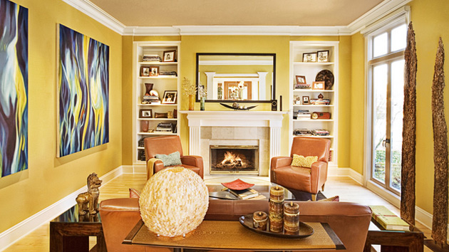 15 Fab Living Room Designs with Yellow Accent  Home