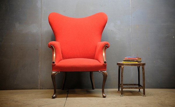 Yellow Wingback Chair