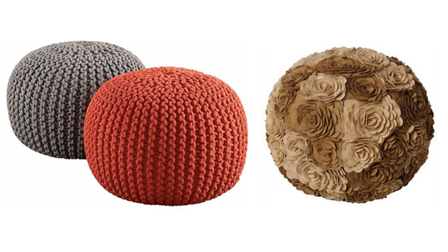 living room pouf funky decor 15 cute round seats | home design lover