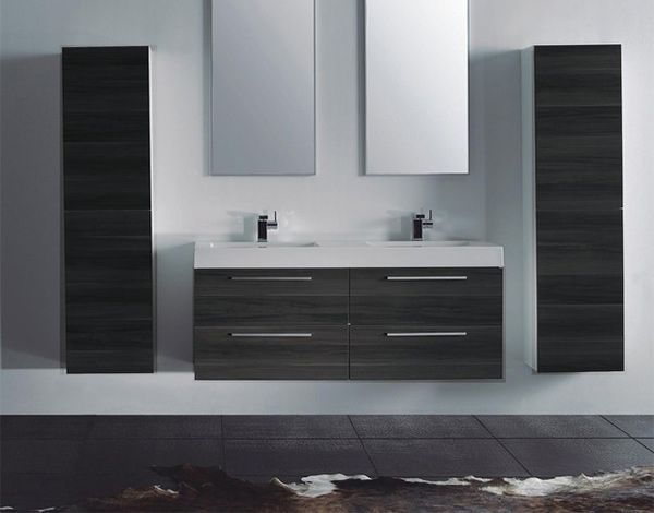 15 Modern Double Sink Bathroom Vanity Sets  Home Design Lover