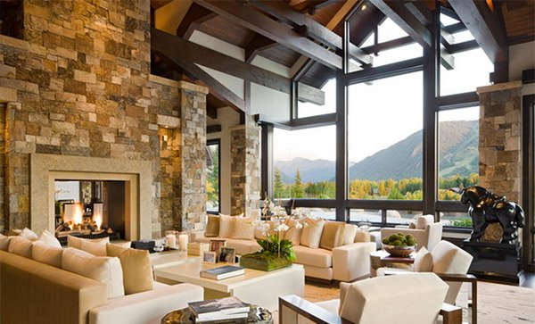15 Living Rooms with Exposed Beams  Home Design Lover