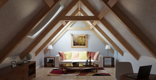 15 WellDesigned Living Spaces in the Attic  Home Design Lover