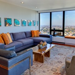 Brown And Orange Living Room Paint Color For Dark Wood Floor 15 Stunning Designs With Blue Accents Home Design Lover