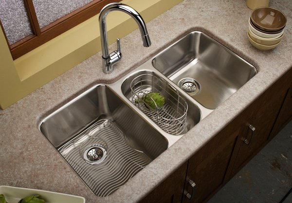 15 functional double basin kitchen sink