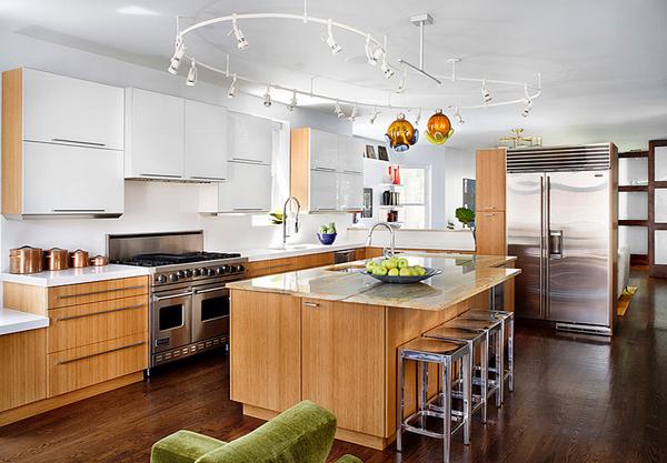 center island kitchen table art for 15 modern eat-in designs | home design lover