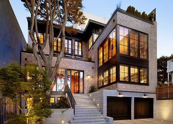 15 Concrete Exterior Staircase Design Home Design Lover | Modern Staircase Design Outside Home | Msmedia | Stair Case | Spiral Staircase | Decorative Wrought | Iron Railings