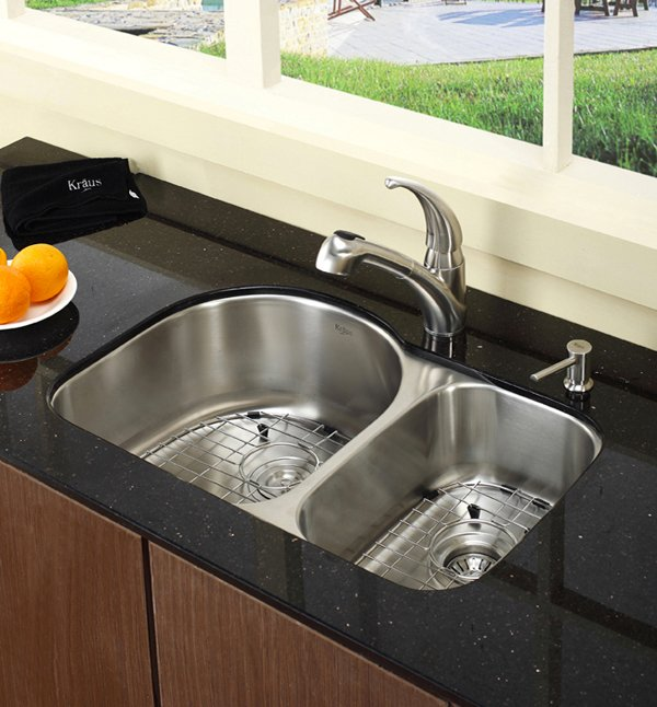undermount stainless steel kitchen sinks shelves for cabinets 15 functional double basin sink | home design lover