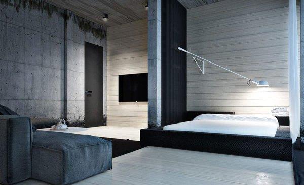 15 Industrial Bedroom Designs  Home Design Lover