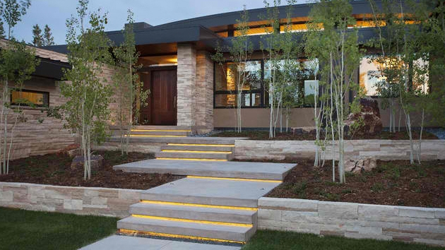 15 Concrete Exterior Staircase Design Home Design Lover   Front House Stairs Design