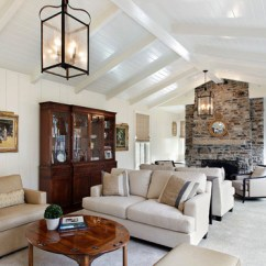 How To Decorate A Long Living Room With Fireplace In The Middle Futon Ideas 18 Designs Vaulted Ceiling | Home Design ...