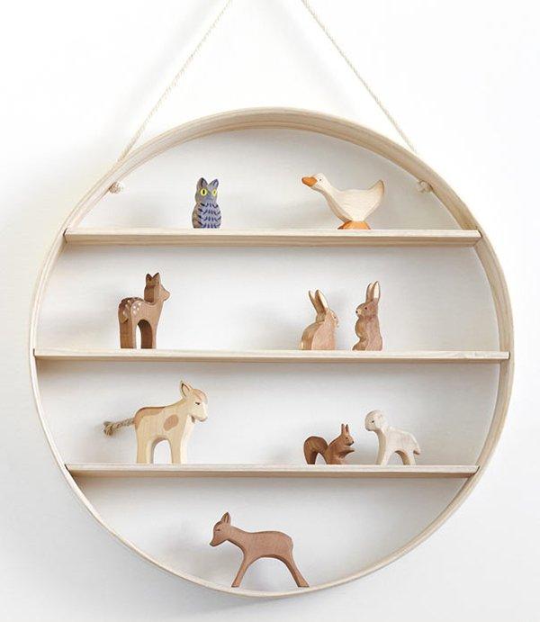 decorative wood wall shelf