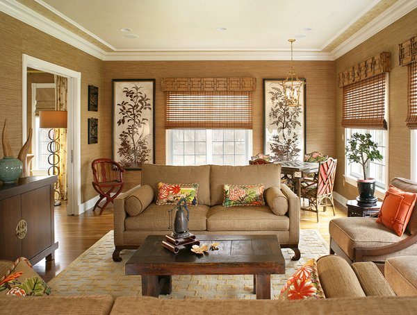 living room color schemes black leather couch 2 theme ideas 15 relaxing brown and tan designs | home ...