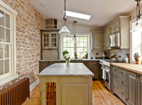 15 Stone Walled Kitchen Designs  Home Design Lover