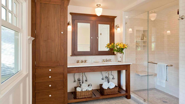 tall living room cabinets lighting fixtures 15 traditional bathroom design | home ...