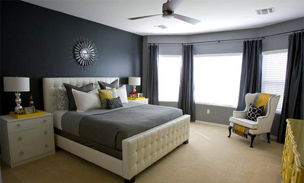 yellow and grey master bedroom 15 Visually Pleasant Yellow and Grey Bedroom Designs | Home Design Lover
