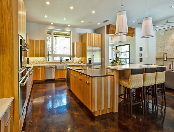 15 Different Kitchen Flooring Designs  Home Design Lover