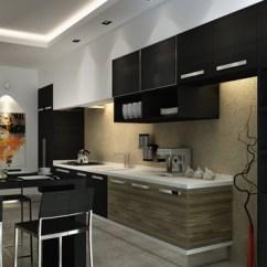 Modern Elegant Living Room Designs Curtain Valances For 15 Astonishing Black Kitchen Cabinets   Home Design Lover