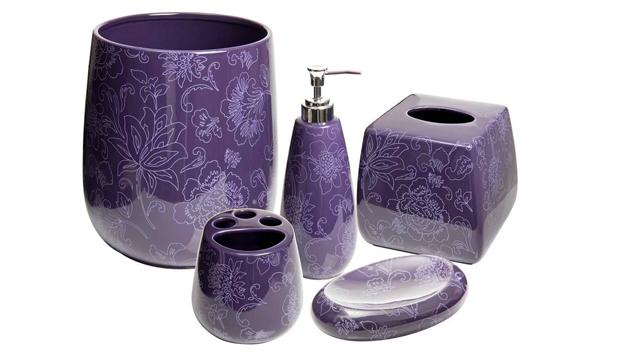 15 Elegant Purple Bathroom Accessories  Home Design Lover