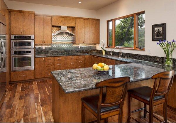 merillat kitchen cabinets staining darker 15 different granite countertops | home design lover